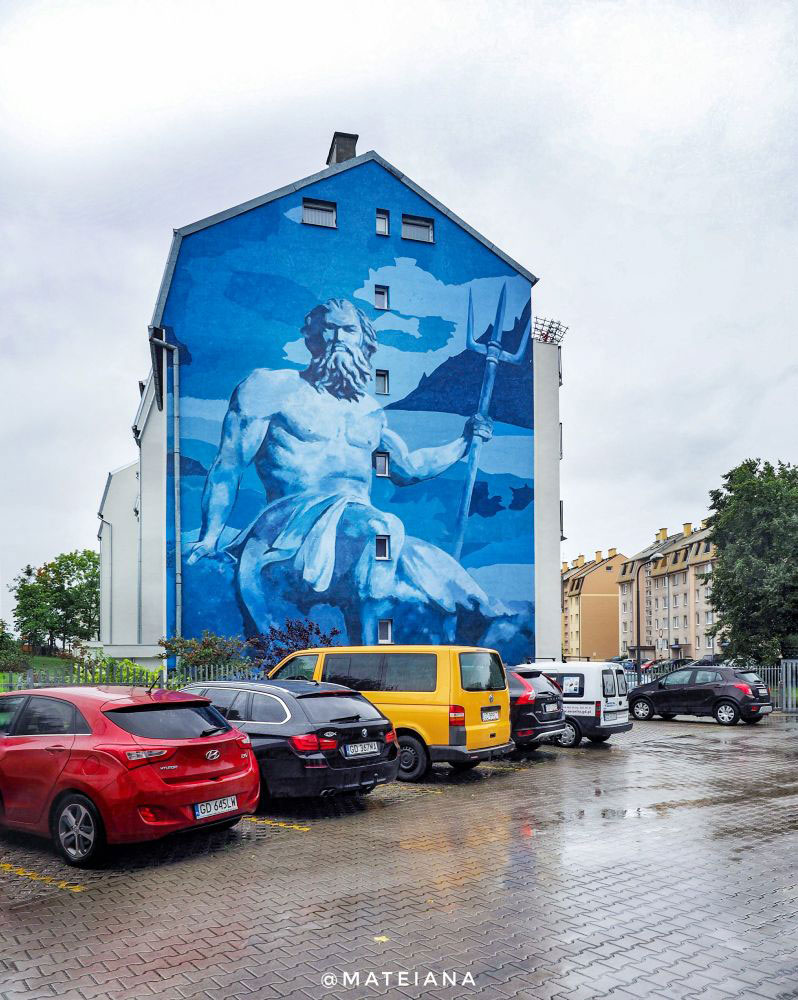 Poseidon---Neptun-Mural-in-Gdansk