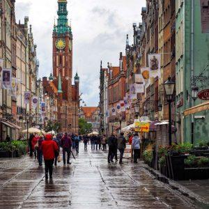 Ratusz-Glownego-Miasta---Main-Town-Hall-Gdansk,-Poland