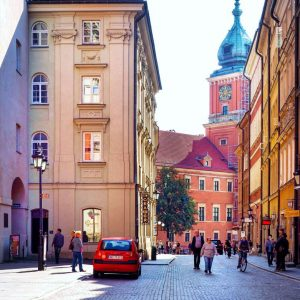 Street-photo-and-Royal-Castle-Warsaw
