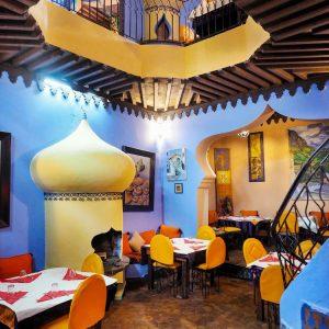 Casa-Aladin-Restaurant-in-Chefchaouen---interior-style