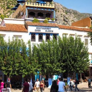 Casa-Aladin-Restaurant-in-Chefchaouen---mountain-view