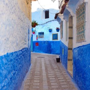 Colorful-street-in-Chefchaouen