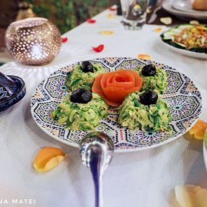Courgettes-with-eggs,-Marrakech