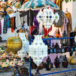 Moroccan-Lamps-in-Chefchaouen-s-Souk