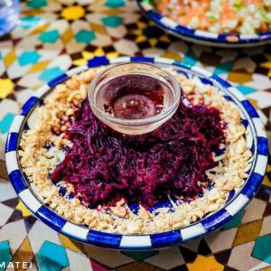 Moroccan-beets-salad-with-almonds-and-lemon-juice