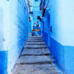 Streets-of-Chefchaouen---blue-gradient-street