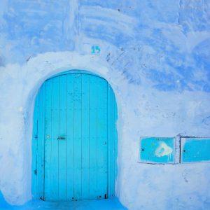 Turquoise-door-in-Chefchaouen