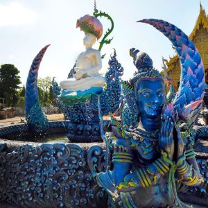 Blue-Temple-Chiang-Rai---Beautiful-Fountain