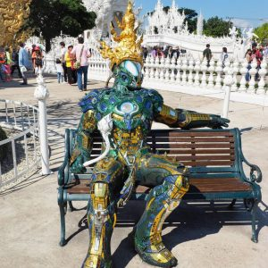 White-Temple-Chiang-Rai---Robot-sitting-on-a-bench