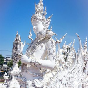 White-Temple-Chiang-Rai---angel-statue