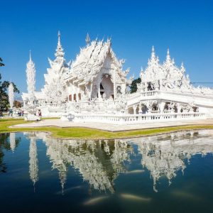 White-Temple-Wat Rong Khun - Chiang-Rai-and-White-Koi-Fish