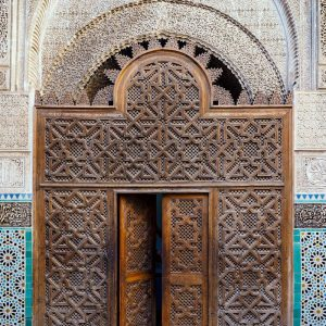 Al-Attarine-Madrasa-Fez---door