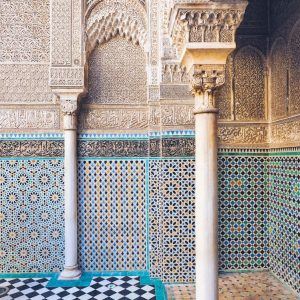 Al-Attarine-Madrasa-Fez---mosaics