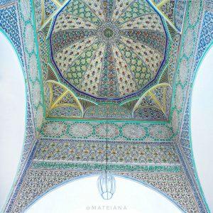 Al-Quaraouiyine-University-Fez---ceiling