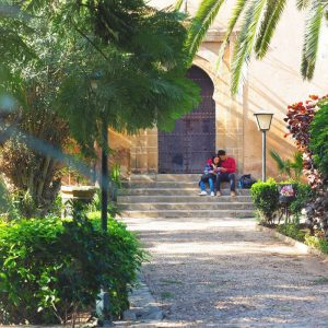 Andalusian-Gardens-in-Rabat,-Morocco