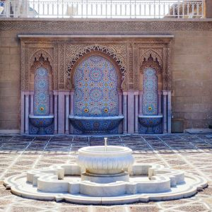Blue-Mosaic-Fountain-at-Mausoleum-of-Mohammed-V