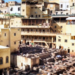 Fez-Tannery-Morocco---from-above