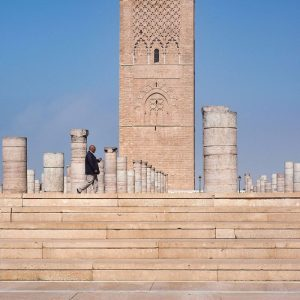Hassan-Tower,-Rabat,-Morocco---stranger-in-my-frame