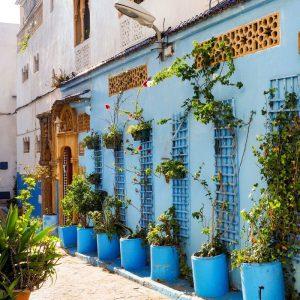 Kasbah-des-Oudaias,-Rabat---Blue-Wall