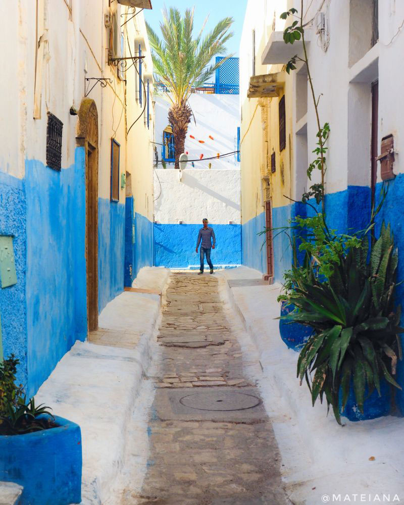 Kasbah-des-Oudaias,-Rabat---beautiful-narrow-street