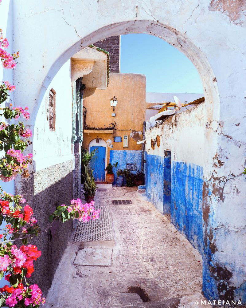 Kasbah-of-the-Udayas,-Rabat---pretty-corner