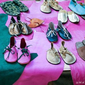 Leather-goods-in-Fez-Medina