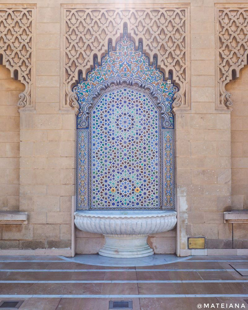 Mosaic-fountain-at-Mausoleum-of-Mohammed-V