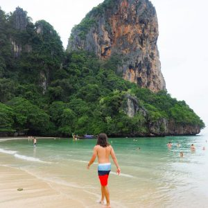 West-Railay-Beach,-Krabi,-Thailand