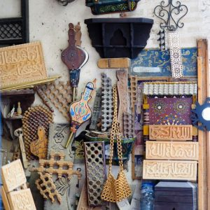 Wood-items-in-Fez-Medina