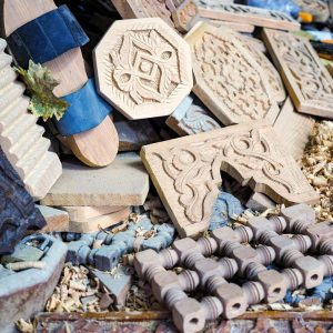 Wood-objects-in-Fez-Medina