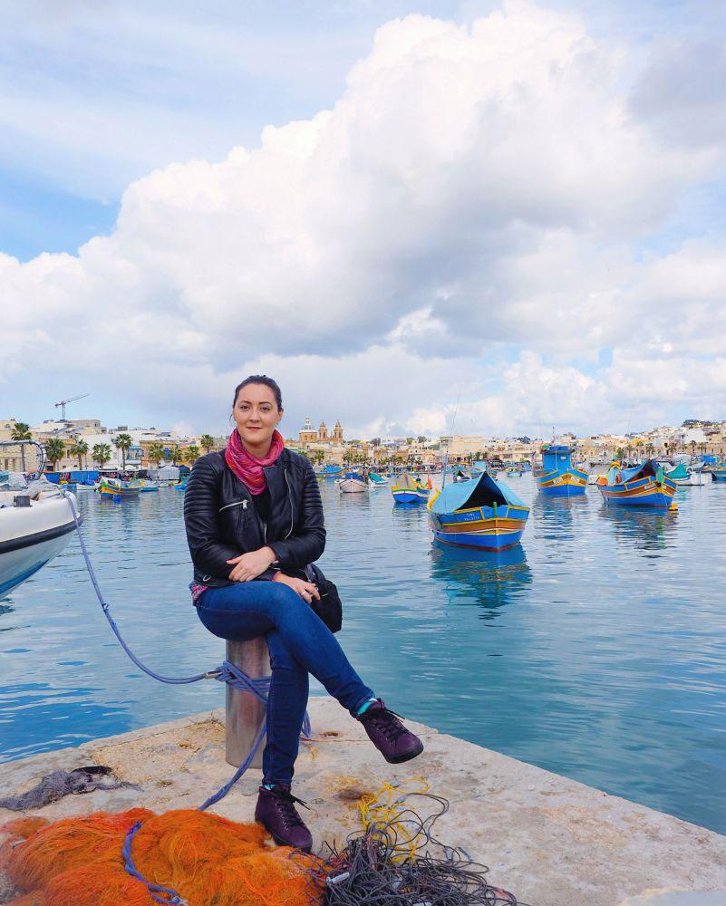 Ana-Matei-in-Marsaxlokk,-Malta