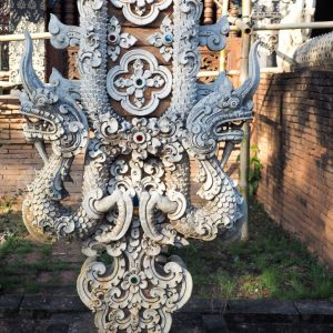 Beautiful-Naga-dragons-at-Wat-Lok-Moli---temple-in-Chiang-Mai