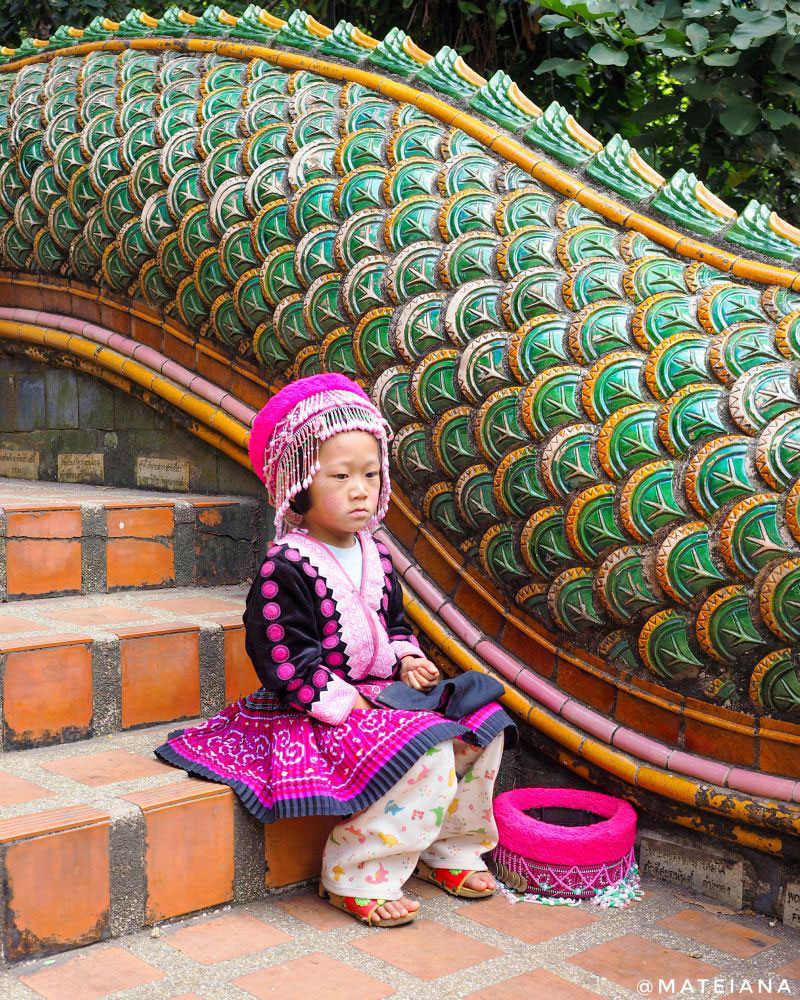 Doi-Pui-Village-Girl-at-Wat-Phra-That-Doi-Suthep