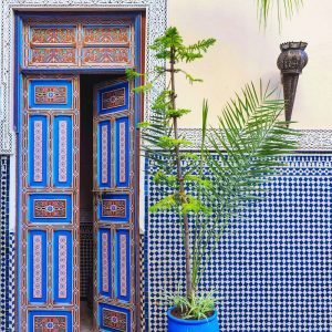 Moroccan-Door-at-Riad-Fes-Baraka