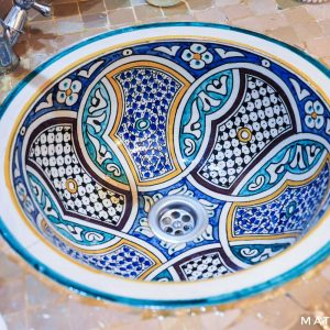 Moroccan-sink-at-Riad-Melhoun-Marrakech