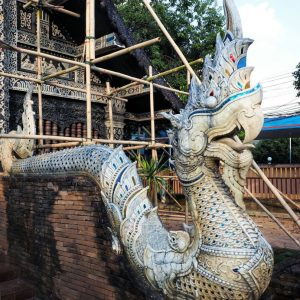 Naga-dragons-at-Wat-Lok-Moli-in-Chiang-Mai