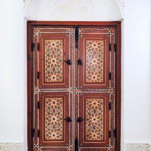 Painted-windows-at-Riad-Melhoun-and-Spa-Marrakech