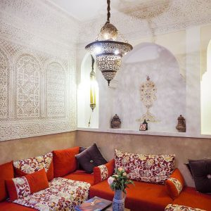 Riad-Melhoun-Marrakech---Moroccan-sitting-area