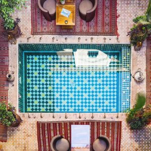 Riad-Melhoun-and-Spa-Marrakech---pool-view-from-above