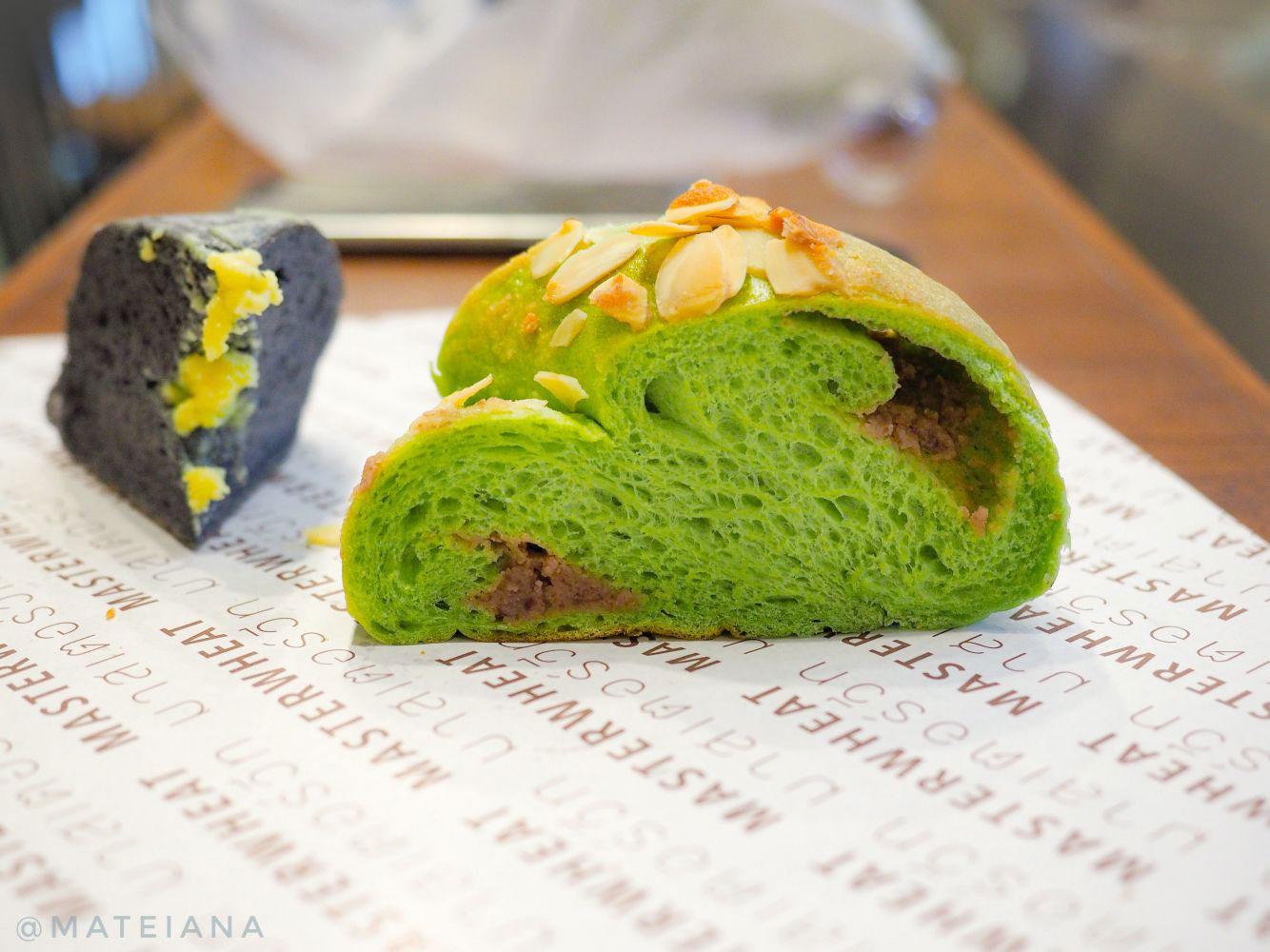 Master-Wheat-Bangkok---matcha-bread-and-black-bread