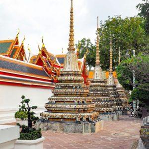 Wat-Pho-Bangkok---stupas