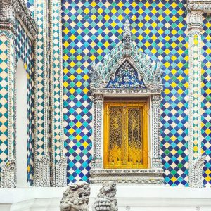 beautiful-window-and-wall-mosaic-inside-Grand-Palace-Bangkok