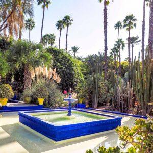 Jardin-Majorelle-Marrakech---fountain-in-the-garden