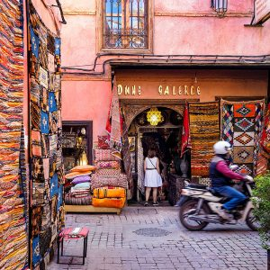 Streets-of-Marrakech,-Morocco