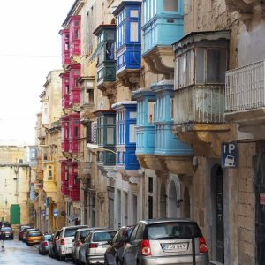 Colorful-Maltese-Timber-Balconies-in-Valletta