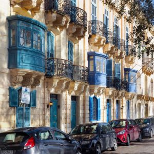 Maltese-Timber-Balconies-in-Valletta