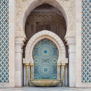 Hassan-II-Mosque-in-Casablanca-Morocco---Mosaic-Fountain