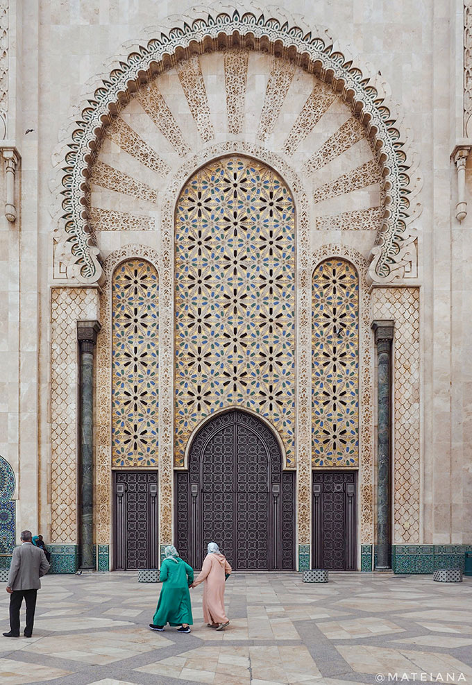 Hassan-II-Mosque-in-Casablanca,-Morocco---beautiful-architecture