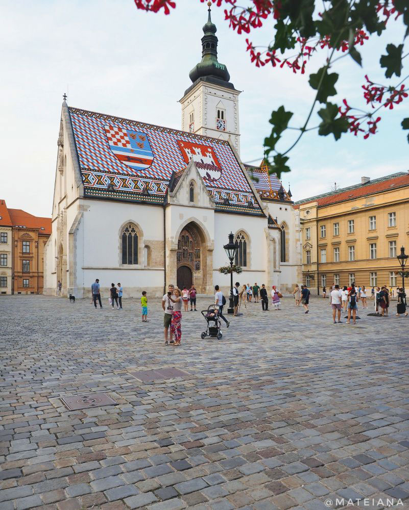 St.-Mark-s-Church-in-Zagreb,-Croatia