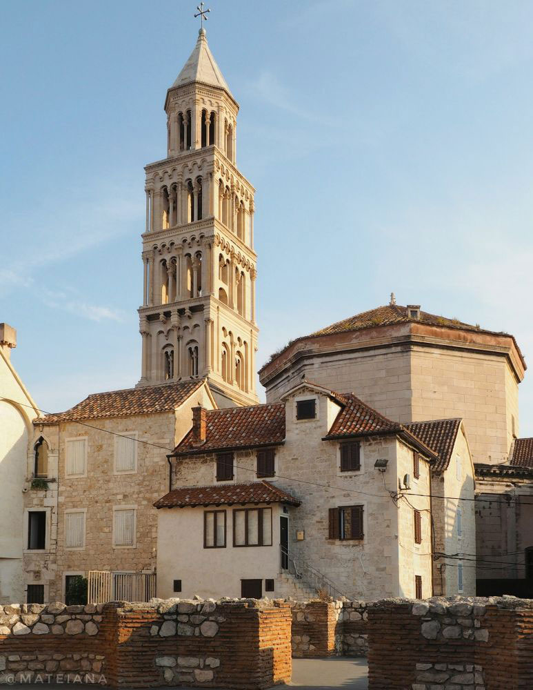 Cathedral-of-Saint-Domnius,-Split,-Croatia--Tower